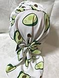 Бандана-шапка-косынка с козырьком и объёмной драпировкой цвет  белый, фото 3
