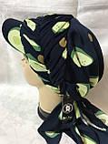 Бандана-шапка-косынка с козырьком и объёмной драпировкой цвет  белый, фото 5