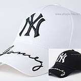 Чёрная и белая  бейсболка  из коттона с вышивкой 56-58, фото 2