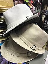 Шляпа мужская летняя  льняная большого размера 59-61 белая и бежевая