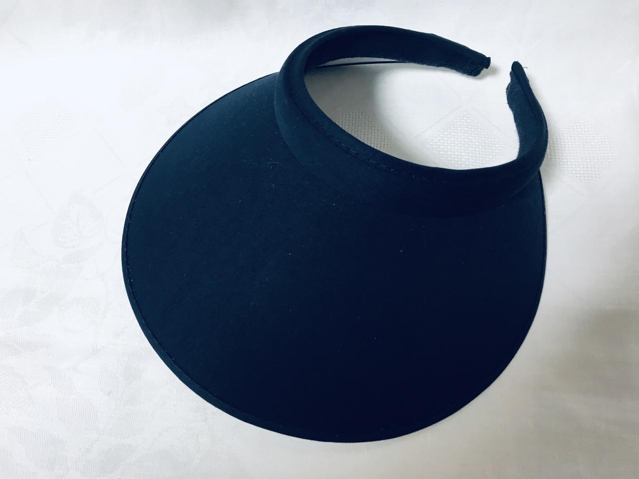 Большой синий и  красный козырек обруч от солнца  на голову 25.5Х15.5 см