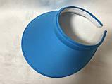 Большой синий и  красный козырек обруч от солнца  на голову 25.5Х15.5 см, фото 5