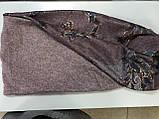 Широкий снуд из  трикотажного и  шерстяного полотна цвет пыльная роза, фото 2