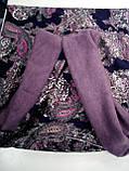 Широкий снуд из  трикотажного и  шерстяного полотна цвет пыльная роза, фото 6