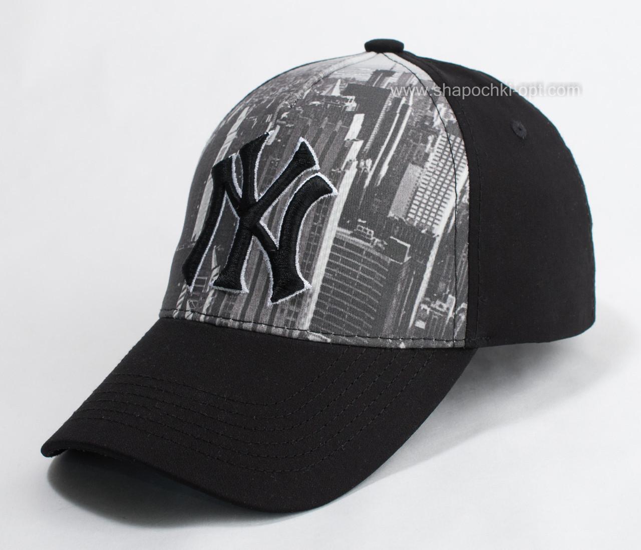Черная  хлопковая бейсболка с фотопечатью  56-58 см