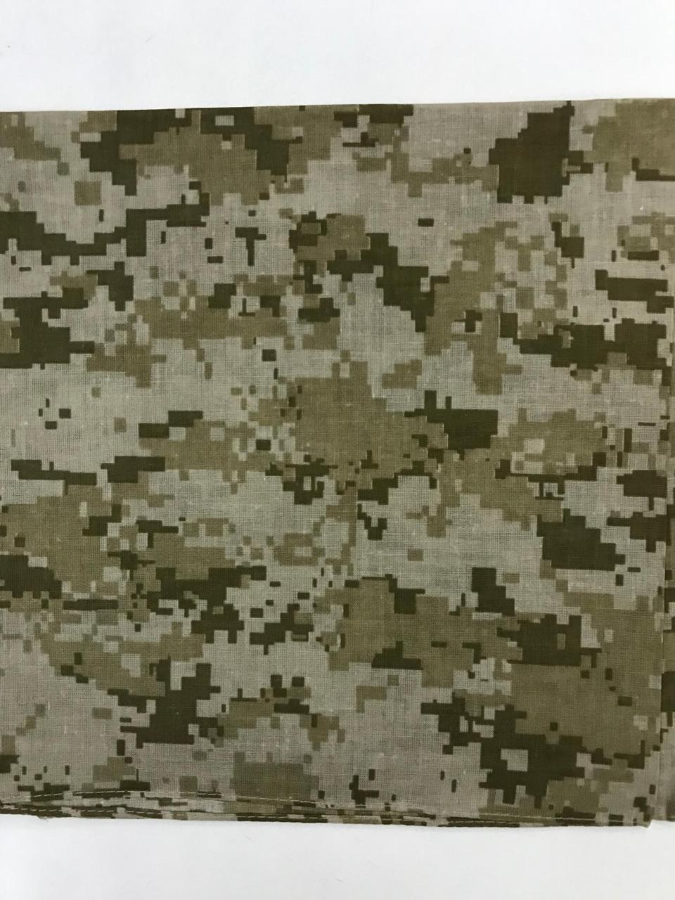Бандана (платок)  хлопок   55 х 55см  с рисунком цвет хаки