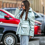 Куртка-пиджак из перламутровой плащевки Размеры: S, M., фото 3