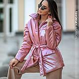 Куртка-пиджак из перламутровой плащевки Размеры: S, M., фото 5