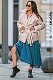 Куртка-пиджак из перламутровой плащевки Размеры: S, M., фото 6
