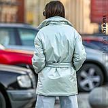 Куртка-пиджак из перламутровой плащевки Размеры: S, M., фото 7