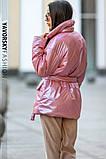 Куртка-пиджак из перламутровой плащевки Размеры: S, M., фото 9