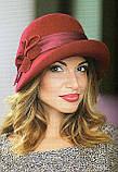 Шляпа с асимметричными  полями из шерсти, фото 2