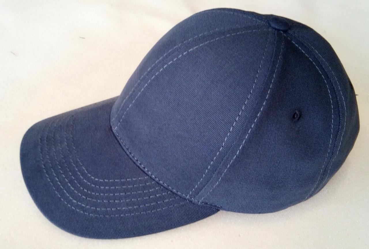 Бейсболка  из плотного коттона  56-58-60-62 цвет темно серый и синий и чёрный