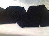 Чорний в'язаний шарф з ангорової вовни розмір 185 х 18 см, фото 2