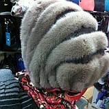 Женская норковая косынка цвет светло коричневая, фото 5