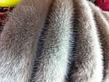 Женская норковая косынка цвет светло коричневая, фото 6