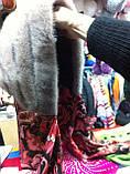 Женская норковая косынка цвет светло коричневая, фото 7