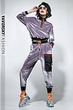 Велюровый спортивный молодежный костюм размеры: S/M, L/X Lцвет малиновый, фото 5