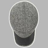 Немка мужская серая шерстяная с чёрным козырьком 57 58, фото 2