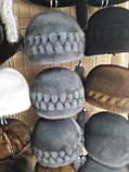 """Норковая  шапка модель """"конфетка резаная 2 ряда """", фото 3"""