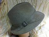 Шляпа  из  фетра с маленькими полями под мужской стиль  поля 5.5 см, фото 2