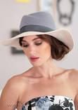 Шляпа из фетра мужского стиля цвет бордовый с серым, фото 5