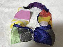 Разноцветная детская повязка солоха на голову с бусинками
