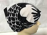 Косынка повязка Солоха детская  на резинке цвет белый с чёрным, фото 7