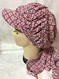 Бандана-шапка-косынка  с козырьком и объёмной драпировкой, фото 2