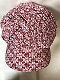 Бандана-шапка-косынка  с козырьком и объёмной драпировкой, фото 5