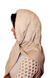 Женская косынка  из натуральной норки  белая, фото 3