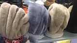 Женская косынка  из натуральной норки  белая, фото 5
