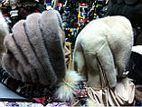 Женская косынка  из натуральной норки  белая, фото 7