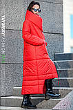 Пуховик-Одеяло «Клайд с большим воротником цвет красный, фото 2