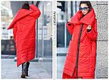 Пуховик-Одеяло «Клайд с большим воротником цвет красный, фото 4