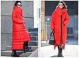 Пуховик-Одеяло «Клайд с большим воротником цвет красный, фото 5