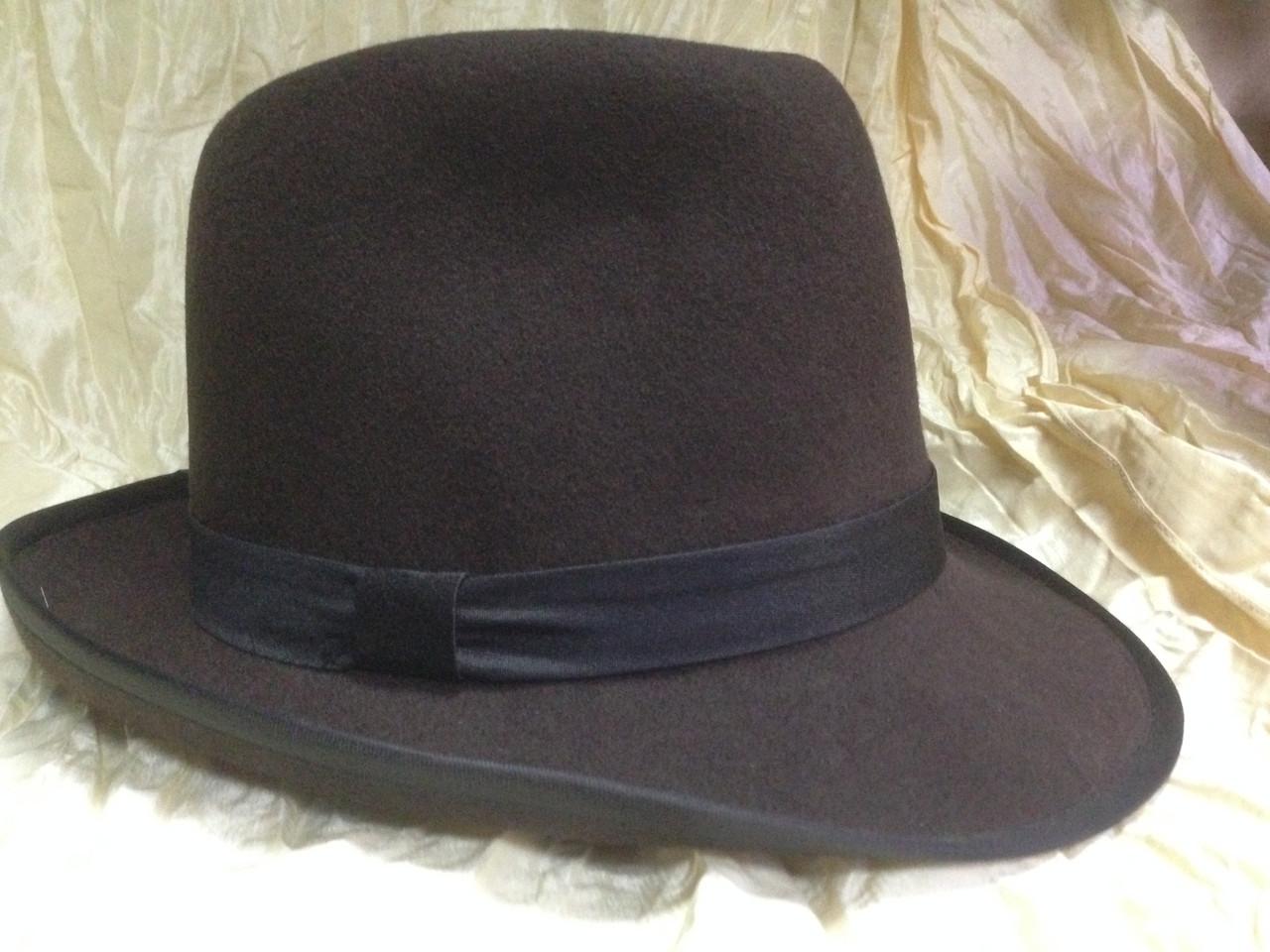 Фетровая мужская шляпа поля 5.8 см цвет коричневый 56