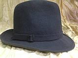Фетровая мужская шляпа поля 5.8 см цвет коричневый 56, фото 6