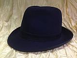 Фетровая мужская шляпа поля 5.8 см цвет коричневый 56, фото 7