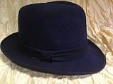 Фетровая мужская шляпа поля 5.8 см цвет коричневый 56, фото 8