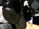 Бейсболка из натуральной замши и кожи 56-58-60 цвет темно коричневый, фото 7