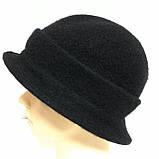 Женская шляпка с маленькими полями  из мягкого фетра  с ободком, фото 2
