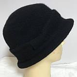 Женская шляпка с маленькими полями  из мягкого фетра  с ободком, фото 3