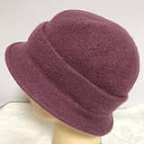 Женская шляпка с маленькими полями  из мягкого фетра  с ободком, фото 5