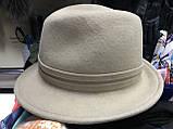 Шляпа  из  фетра с маленькими полями под мужской стиль поля 5.5 см, фото 3