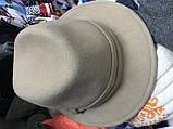 Шляпа  из  фетра с маленькими полями под мужской стиль поля 5.5 см, фото 4