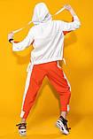 Двухцветный летний костюм лен хлопок размер 42 - 48 цвет красный с белым, фото 4