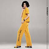 Молодежный костюм из хлопка с надписью размер 42 - 48 цвет желтый, фото 3