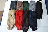 Женские комплекты перчатка+варежка  сенсор цвет чёрные коричневый и беж, фото 3