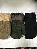Варежки детские для мальчиков и девочек с меховой подкладкой и отворотом   3-6 лет, фото 3